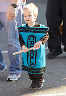 Middletown, New York  - A young boy takes part in the costume contest during the Halloween Fall Festival at the Middletown YMCA's Center for Youth Programs on Oct. 25, 2014.