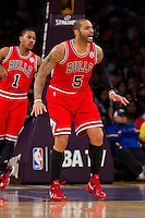 25 December 2011: Forward Carlos Boozer of the Chicago Bulls against the Los Angeles Lakers during the first half of the Bulls 88-87 victory over the Lakers at the STAPLES Center in Los Angeles, CA.
