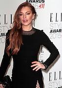 Feb 24, 2015 - Elle Style Awards 2015, Sky Garden @ The Walkie Talkie Building, London<br /> <br /> Pictured: Lindsay Lohan<br /> ©Exclusivepix Media