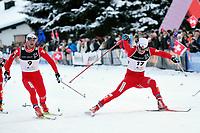 John Kristian Dahl (NOR) vor Petter Northug (NOR) im Ziel © Andy Mueller/EQ Images