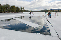 Annual Ice Harvest event for Rockywold-Deephaven Camps.  Karen Bobotas for the Laconia Daily Sun