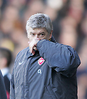Photo: Lee Earle.<br /> Fulham v Arsenal. The Barclays Premiership. 04/03/2006. Arsenal manager Arsene Wenger.
