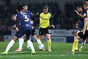 David Templeton dribbles forward during the EFL Sky Bet League 1 match between Burton Albion and Southend United at the Pirelli Stadium, Burton upon Trent, England on 3 December 2019.