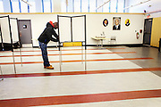 A voter casts his ballot at the John A. Shelburne Recreation Center in Roxbury, MA, Super Tuesday, March 1, 2016.  CREDIT: Cheryl Senter for The New York Times