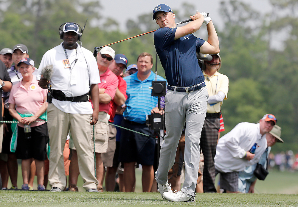 Jordan Spieth drives off of the third tee in the Shell Houston Open-Round 1 at the Golf Club of Houston on Wednesday, March 31, 2016 in Humble, TX. (Photo: Thomas B. Shea/For the Chronicle)