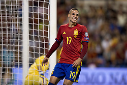 October 6, 2017 - Alicante, Spain - Rodrigo Moreno (Valencia) during the qualifying match for the World Cup Russia 2018 between Spain and Albaniaat the Jose Rico Perez stadium in Alicante, Spain on October 6, 2017. (Credit Image: © Jose Breton/NurPhoto via ZUMA Press)