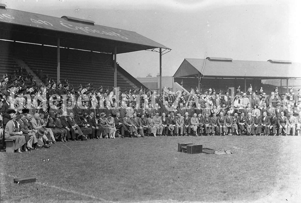 H2476<br /> Opening of Tailteann Games. Picture of attendance.<br /> 1932 (Part of the Independent Newspapers Ireland/NLI Collection)