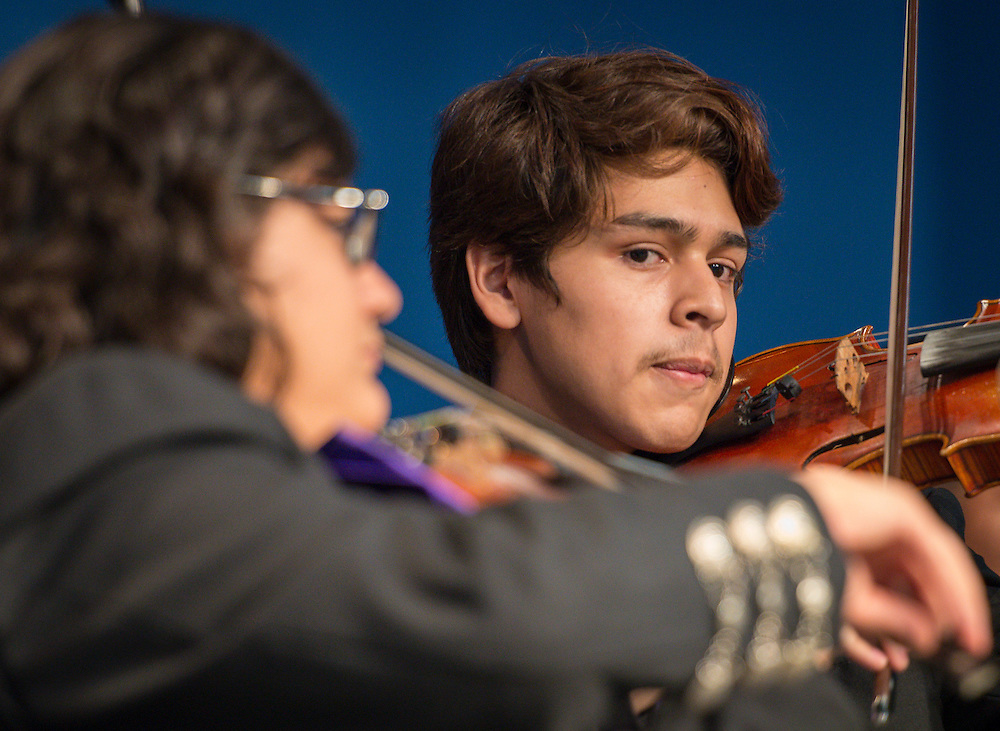 The Davis High School Mariachi Band performs the New Teacher Academy held at Kingdom Builders, July 28, 2014.