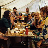 "John Sebastian - with Zal Yanovski and friends.- .A man of many faces, clean shaven in The Lovin Spoonful, but now more relaxed as he was reunited with old colleague John Sebastian. Brian Hinton in his book ""Message to Love"" remembers him as being ubiquitous and a symbol of permanence - almost as if his presence was dependent on the success of the festival, he seemed to be everywhere!"