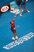Feliciano Lopez (ESP) faced Andy Murray in Day 6 Men's Singles play at the 2014 Australian open in Melbourne's HiSense Arena. Murray won the match 7 (7) - 6 (2), 6-4, 6-2.