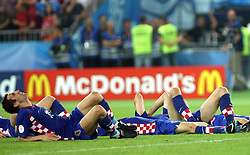 Sad Team Croatia and Darijo Srna after penalty shots during the UEFA EURO 2008 Quarter-Final soccer match between Croatia and Turkey at Ernst-Happel Stadium, on June 20,2008, in Wien, Austria.  Won of Turkey after penalty shots. (Photo by Vid Ponikvar / Sportal Images)