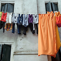 Chioggia, Venetian Lagoon, Italy 30 June 2009<br /> Clothes drying.<br /> PHOTO: EZEQUIEL SCAGNETTI