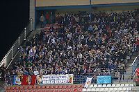 13.01.2013 SPAIN -  La Liga 12/13 Matchday 19th  match played between Atletico de Madrid vs Real Zaragoza (2-0) at Vicente Calderon stadium. The picture show Real Zaragoza fans