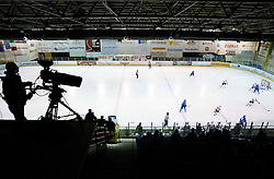 TV camera during Friendly Ice-hockey match between National teams of Slovenia and Italy on April 5, 2013 in Ice Arena Tabor, Maribor, Slovenia. (Photo By Vid Ponikvar / Sportida)