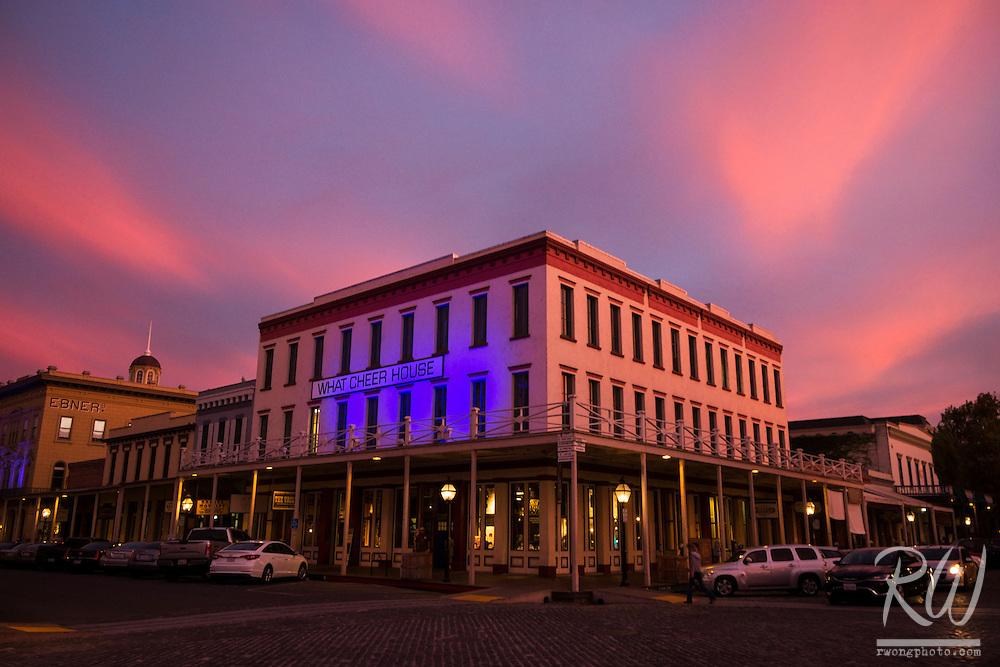 Old Sacramento at Sunset, Sacramento, California