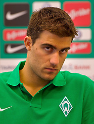 21.07.2011, Oeschberghof, Donaueschingen, Trainingslager 2011, Vorstellung Sokratris Papastathopoulos GER, 1.FBL, Werder Bremen Vorstellung Neuzugang Sokratris Papastathopoulos , im Bild Sokratris Papastathopoulos (Bremen #22)..// during the trainings session from GER, 1.FBL, Werder Bremen Vorstellung Neuzugang Sokratris Papastathopoulos  on 2011/07/21,  Oeschberghof, Donaueschingen, Germany..EXPA Pictures © 2011, PhotoCredit: EXPA/ nph/  Kokenge       ****** out of GER / CRO  / BEL ******