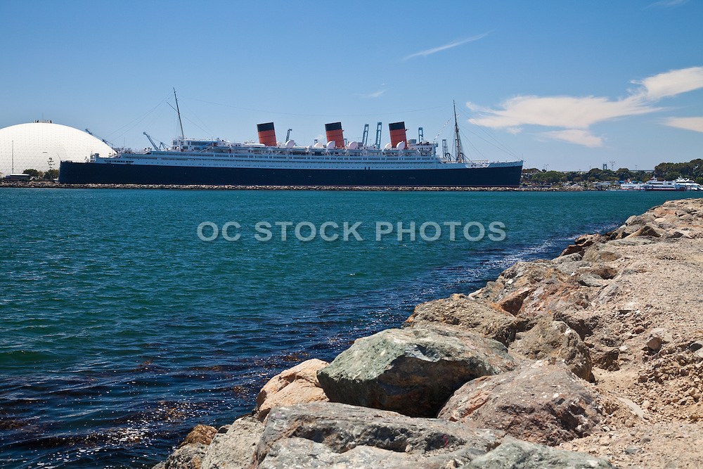 Queen Mary In The Long Beach Harbor