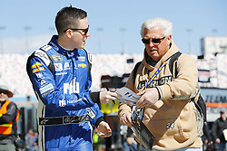 March 2, 2018 - Las Vegas, Nevada, United States of America - March 02, 2018 - Las Vegas, Nevada, USA: Alex Bowman (88) hangs out in the garage during practice for the Pennzoil 400 at Las Vegas Motor Speedway in Las Vegas, Nevada. (Credit Image: © Chris Owens Asp Inc/ASP via ZUMA Wire)