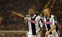 Photo: Leigh Quinnell.<br /> West Bromwich Albion v Manchester City. The Barclays Premiership. 10/12/2005. Kevin Campbell (L) celebrates his goal with team mate Ronnie Wallwork.
