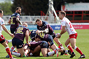Hull Kingston Rovers half back Chris Atkin (24) throws a pass  from the back of the ruck during the Betfred Super League match between Hull Kingston Rovers and Leeds Rhinos at the Lightstream Stadium, Hull, United Kingdom on 29 April 2018. Picture by Mick Atkins.