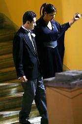O administrador de empresas Rafael Covolo, (27) chega para o seu casamento com Paula Roussef (32) que acontece às 20h30 desta sexta-feira na igreja São José e contará com a presença do presidente Luiz Inacio Lula da Silva e de pelo menos seis ministros de Estado e oito governadores. FOTO: Jefferson Bernardes / Preview.com