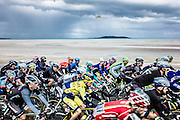 11.05.2014. Malahide, Ireland. The Giro D'Italia passes through the Irish town of Malahide, Dublin at the start of the classic 2014 tour. Opposite Lambay Island