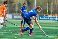 BLOEMENDAAL - Julius de Korte (Breda)  tijdens de competitiewedstrijd hockey jongens B , Bloemendaal JB1-Breda JB1 (3-2)  , COPYRIGHT KOEN SUYK