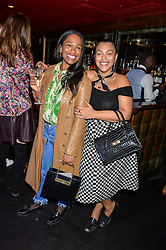 Left to right, SHARMADEAN REID and PALOMA ELSESSER at a party to celebrate the UK launch of French fashion label ba&sh at The Arts Club, Dover Street, London on 15th March 2016.