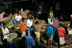 BANGLADESH DHAKA KAWRAN BAZAAR 2MARB05 - Fruit stalls  at the Kawran Bazaar vegetable market. The Bazaar has been in the Tejgaon area for at least 30 years and is one of the largest markets in Dhaka city...jre/Photo by Jiri Rezac..© Jiri Rezac 2005..Contact: +44 (0) 7050 110 417.Mobile:  +44 (0) 7801 337 683.Office:  +44 (0) 20 8968 9635..Email:   jiri@jirirezac.com.Web:    www.jirirezac.com..© All images Jiri Rezac 2005- All rights reserved.