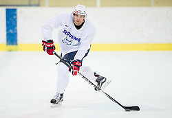 Jakob Milovanovic during practice session of Slovenian Ice Hockey National Team at training camp, on February 8th, 2016 in Ledna dvorana, Bled, Slovenia. Photo by Vid Ponikvar / Sportida