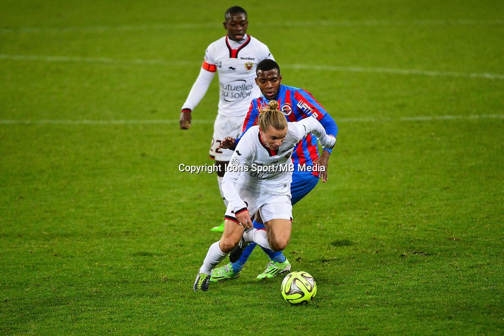 Niklas HULT / Thomas LEMAR - 06.12.2014 - Caen / Nice - 17eme journee de Ligue 1 -<br />Photo : Dave Winter / Icon Sport