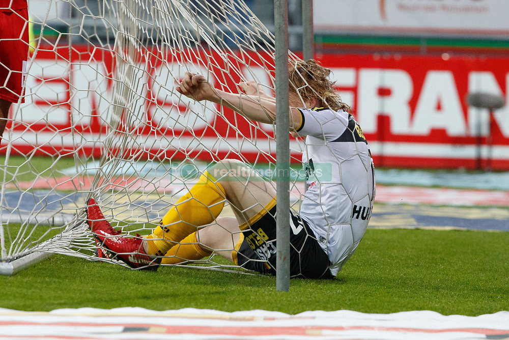 May 9, 2018 - Oostende, BELGIUM - Lokeren's Guus Hupperts celebrates after scoring during a soccer game between KV Oostende and Sporting Lokeren, in Oostende, Wednesday 09 May 2018, on day eight of the Play-Off 2B of the Belgian soccer championship. BELGA PHOTO KURT DESPLENTER (Credit Image: © Kurt Desplenter/Belga via ZUMA Press)