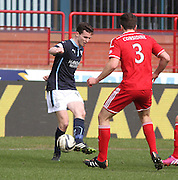 Dundee's Paul McGinn and Aberdeen&rsquo;s Andrew Considine - Dundee v Aberdeen, SPFL Premiership at Dens Park<br /> <br />  - &copy; David Young - www.davidyoungphoto.co.uk - email: davidyoungphoto@gmail.com