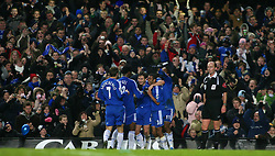 London, England - Tuesday, January 23, 2007: Chelsea's players celebrate Frank Lampard's first goal against Wycombe Wanderers during the League Cup Semi-Final 2nd Leg match at Stamford Bridge. (Pic by Chris Ratcliffe/Propaganda)