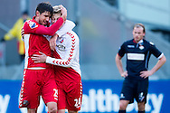 Onderwerp/Subject: FC Utrecht - Eredivisie<br /> Reklame:  <br /> Club/Team/Country: <br /> Seizoen/Season: 2012/2013<br /> FOTO/PHOTO: Bob SCHEPERS (R) of FC Utrecht celebrating his goal with Jan WUYTENS (L) of FC Utrecht ( 3 - 0 ). (Photo by PICS UNITED)<br /> <br /> Trefwoorden/Keywords: <br /> #02 $94 ±1354626289759<br /> Photo- & Copyrights © PICS UNITED <br /> P.O. Box 7164 - 5605 BE  EINDHOVEN (THE NETHERLANDS) <br /> Phone +31 (0)40 296 28 00 <br /> Fax +31 (0) 40 248 47 43 <br /> http://www.pics-united.com <br /> e-mail : sales@pics-united.com (If you would like to raise any issues regarding any aspects of products / service of PICS UNITED) or <br /> e-mail : sales@pics-united.com   <br /> <br /> ATTENTIE: <br /> Publicatie ook bij aanbieding door derden is slechts toegestaan na verkregen toestemming van Pics United. <br /> VOLLEDIGE NAAMSVERMELDING IS VERPLICHT! (© PICS UNITED/Naam Fotograaf, zie veld 4 van de bestandsinfo 'credits') <br /> ATTENTION:  <br /> © Pics United. Reproduction/publication of this photo by any parties is only permitted after authorisation is sought and obtained from  PICS UNITED- THE NETHERLANDS