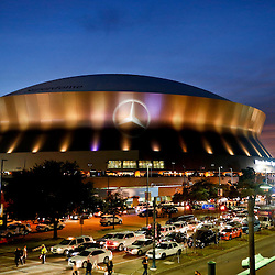 Nov 24, 2014; New Orleans, LA, USA; A general view outside prior to kickoff of a game between the New Orleans Saints and the Baltimore Ravens at the Mercedes-Benz Superdome. Mandatory Credit: Derick E. Hingle-USA TODAY Sports