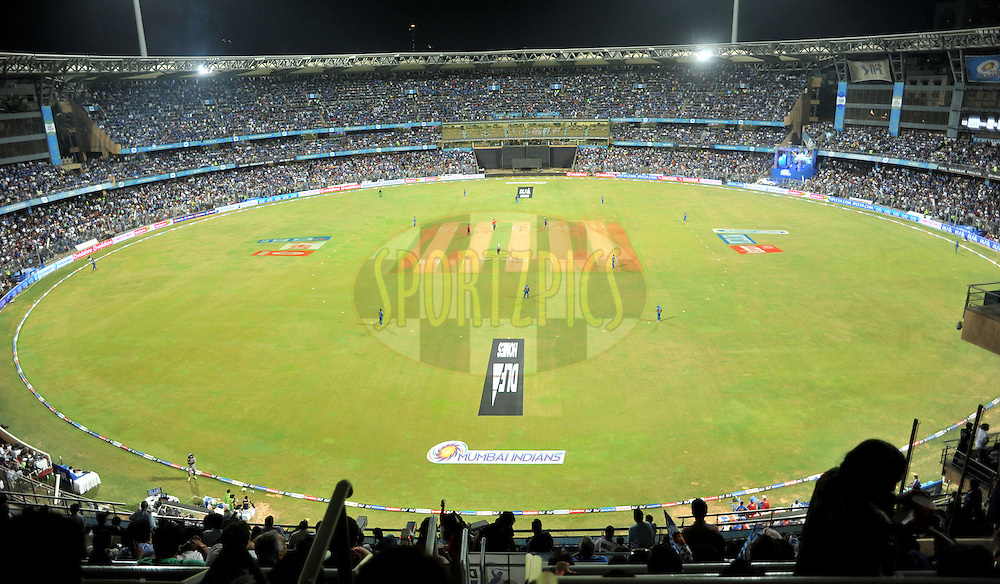 Arieal shoot of the ground during match 65 of the the Indian Premier League ( IPL) 2012  between The Mumbai Indians and the Kolkata Knight Riders held at the Wankhede Stadium in Mumbai on the 16th May 2012..Photo by Sandeep Shetty/IPL/SPORTZPICS