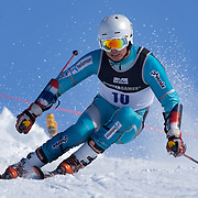 Emil Bjoertomt Kristiansen, Norway, in action during the Men's Giant Slalom competition at Coronet Peak, New Zealand during the Winter Games. Queenstown, New Zealand, 22nd August 2011. Photo Tim Clayton