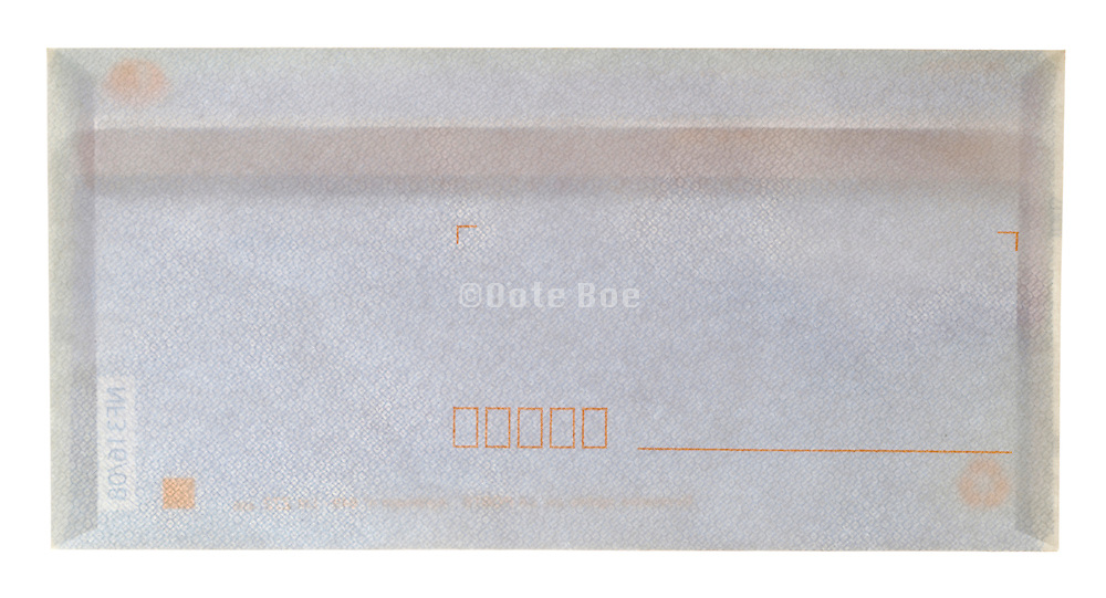 a closed letter sized envelope