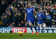 Cardiff City midfielder Joe Ralls (8) during the EFL Sky Bet Championship match between Leeds United and Cardiff City at Elland Road, Leeds, England on 3 February 2018. Picture by Paul Thompson.