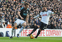 Football - 2016 / 2017 Premier League - Tottenham Hotspur vs. West Bromwich Albion<br /> <br /> Kyle Walker of Tottenham and Gareth McAuley of West Bromwich at White Hart Lane.<br /> <br /> COLORSPORT/ANDREW COWIE