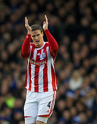 04122011, Goodison Park, Liverpool, ENG, Premier League, FC Everton vs Stoke City, 14 Spieltag, im Bild Stoke City's Robert Huth celebrates scoring the first goal against Everton during the football match of english Premier League, 14th round between FC Everton and Stoke City at Goodison Park, Liverpool, ENG on 2011/12/04. EXPA Pictures © 2011, PhotoCredit: EXPA/ Sportida/ David Rawcliff..***** ATTENTION - OUT OF ENG, GBR, UK *****