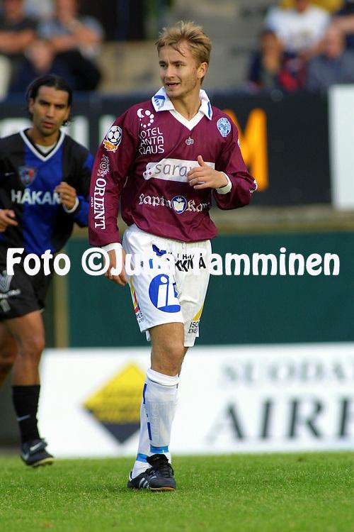 05.08.2001 Turku, Finland. Veikkausliiga, Inter v Rovaniemen Palloseura. Iiro Kylm?nen (RoPS)..©JUHA TAMMINEN