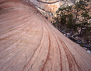 Sandstone Layers, Sandstone Canyon, Canyon, Sandstone, Winter, Ice, Snow, Zion, Zion National Park, Utah