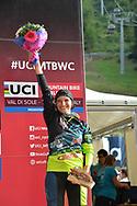 Ciclismo mountain bike world cup Dowhill donne Elite a destra Farina Eleonora Hannah Tracey Atherton Rachel Nicole Myriam Seagrave Tahnee    , Daolasa Val di Sole 24 Agosto  2017 © foto Daniele Mosna