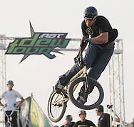 Rob Darden competes at the AST Dew Tour Right Guard Open BMX Dirt Finals Friday, July 18, 2008 in Cleveland, OH.