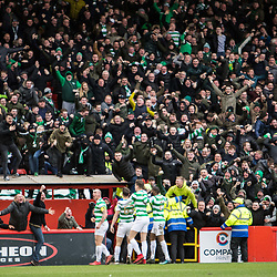 Aberdeen v Celtic, SPrem, 25th February 2018<br /> <br /> Aberdeen v Celtic, SPrem, 25th February 2018 &copy; Scott Cameron Baxter | SportPix.org.uk<br /> <br /> It's a goal to Celtic. The visitors break on the counter and Tierney fires past Woodman on the left.