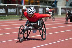 HUANG Lisha, CHN, 200m, T53, 2013 IPC Athletics World Championships, Lyon, France