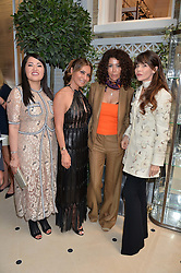 Left to right, MARTA DOSKARINA, ELLA KRASNER, COUNTESS MONTEVERDE and CARLA MARIA ORSI CARBONE at a cocktail party to mark the opening of the House of Dior, the United Kingdom's largest and premier Dior boutique at 160-162 New Bond street, London on 8th June 2016.
