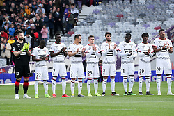 May 5, 2019 - Toulouse, FRANCE - HOMMAGE AUX VICTIMES DE LA CATASTROPHE DE FURIANI - EQUIPE DE FOOTBALL DE RENNES (Credit Image: © Panoramic via ZUMA Press)